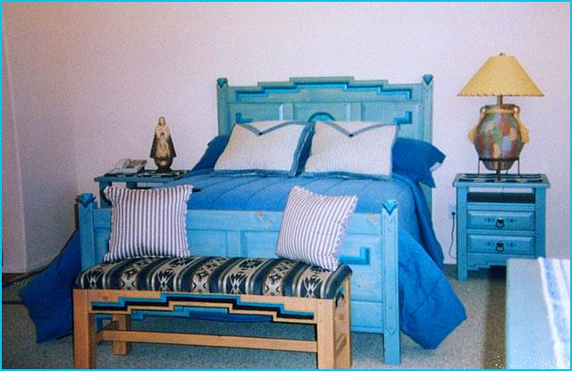 Nice Anasazi Bedroom Set, Blue Stain