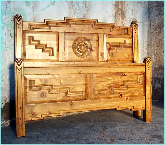 Anasazi Bed In Golden Oak