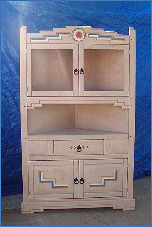 Corner hutch cabinet for dining room