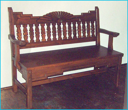 Aurora Bench, Early American Stain