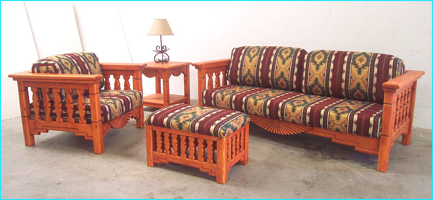 Southwestern Living Room Set Aurora Sofa Chairs