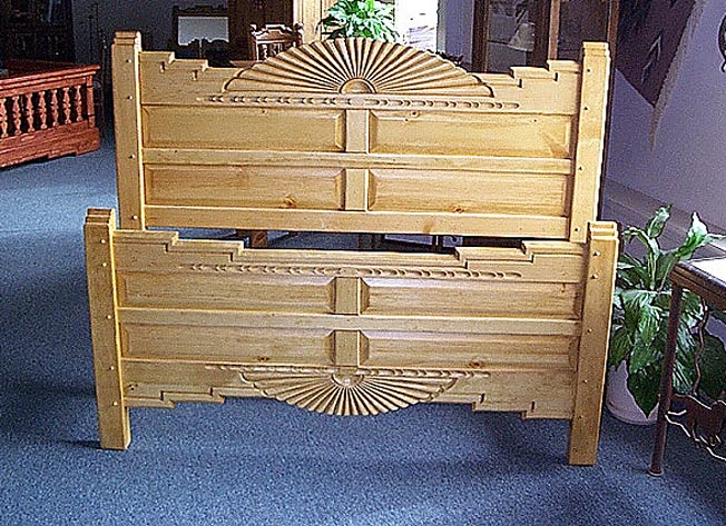 aurora complete southwest style queen bed