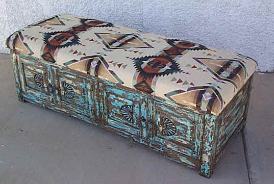 Southwestern Accent Furniture Curio Cabinets Benches Tables