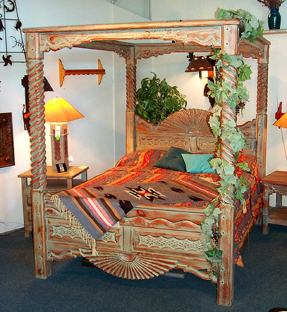southwestern furniture southwest style canopy beds