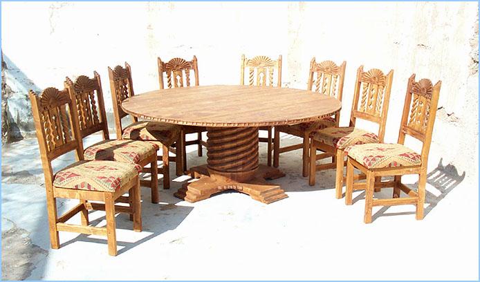 Bear Creek 72 Round 8 Chairs (80713 Bytes) ...