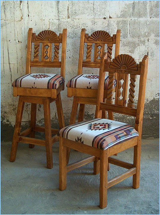 Bear Creek Southwest Style Dining Set Tables Chairs China Cabinets