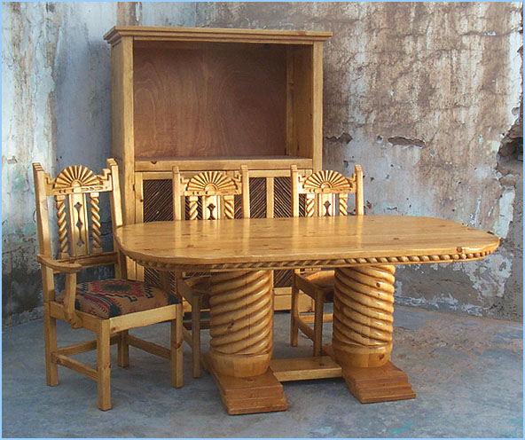 Bear Creek, Southwest Style Dining Set, Tables, Chairs