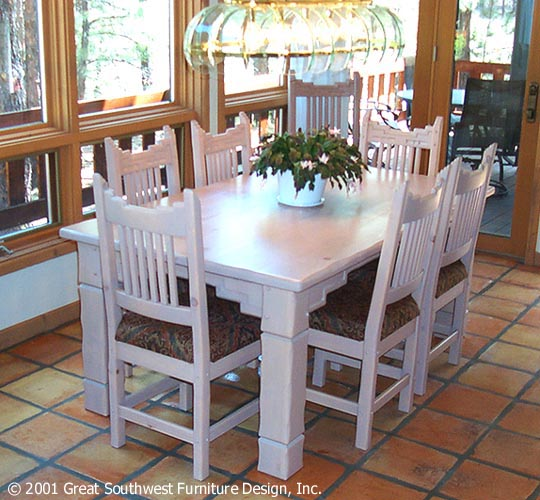 Santa Fe, Southwest Style Dining Set, Tables, Chairs
