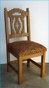 Cruz Dining chair with earthy tone stain