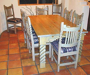 Great Southwest Dining Set, Table with corbels