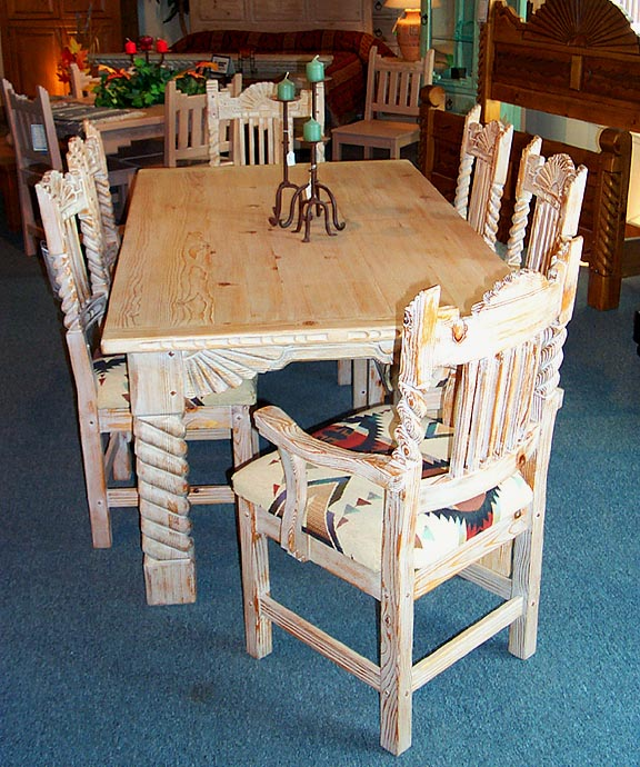 Genial Great Southwest Dining Set, Sandblasted Finish