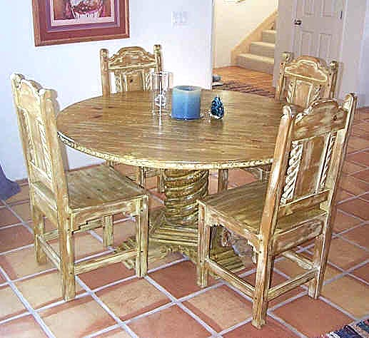 Mission, Southwest Style Dining Set, Tables, Chairs, China