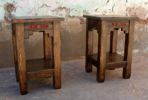 New Mexico Accent Tables, Dark Walnut Stain