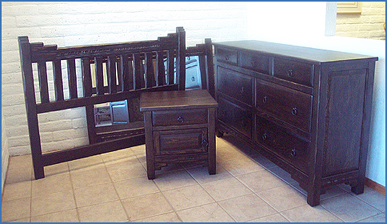 New Mexico Bedroom Set, Jacobean Stain