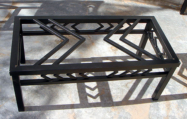 navajo iron coffee table black metal furniture