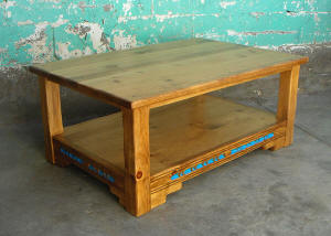 Southwest coffee tables end accent sofa tables for Mexican style coffee table