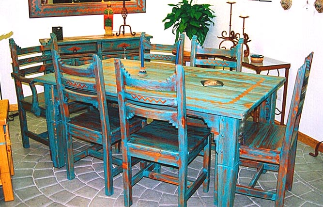 Picos Southwest Style Dining Set Tables Chairs China