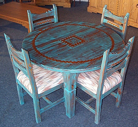 Picos Round Dining Set Southwest. Picos  Southwest Style Dining Set  Tables  Chairs  China Cabinets