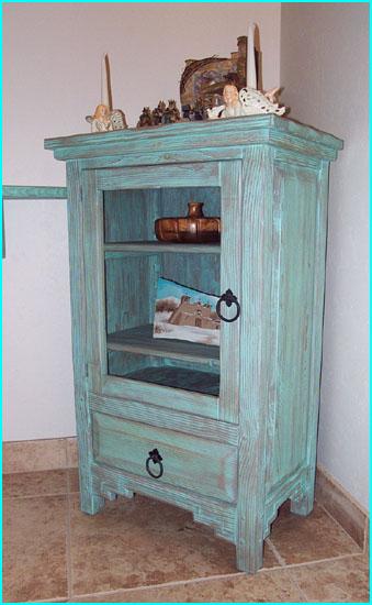 Santa Fe Curio Cabinet Glass Door