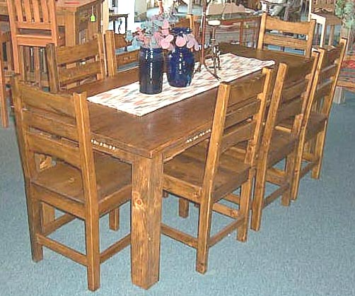 Sedona, Southwest Style Dining Set, Tables, Chairs, China