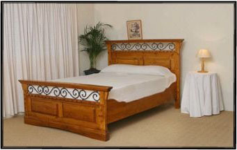 Wood And Iron Bedroom Furniture - Interior Design