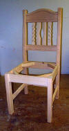 Nevada Dining Chair Unfinished