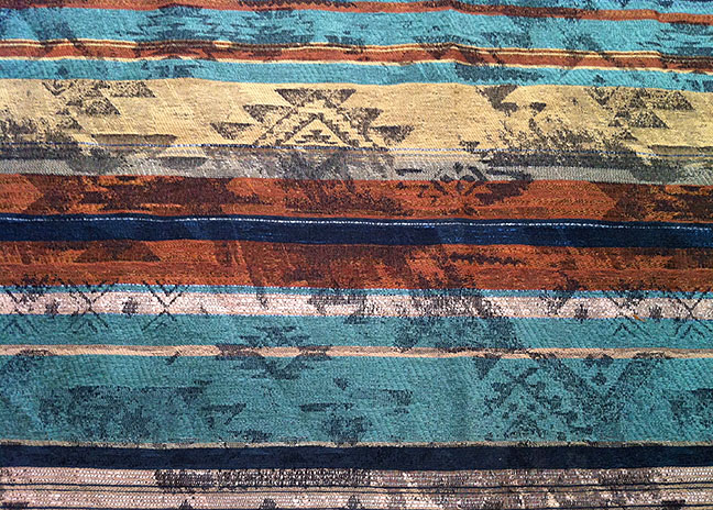Odesa Teal, Southwest Upholstery Fabric