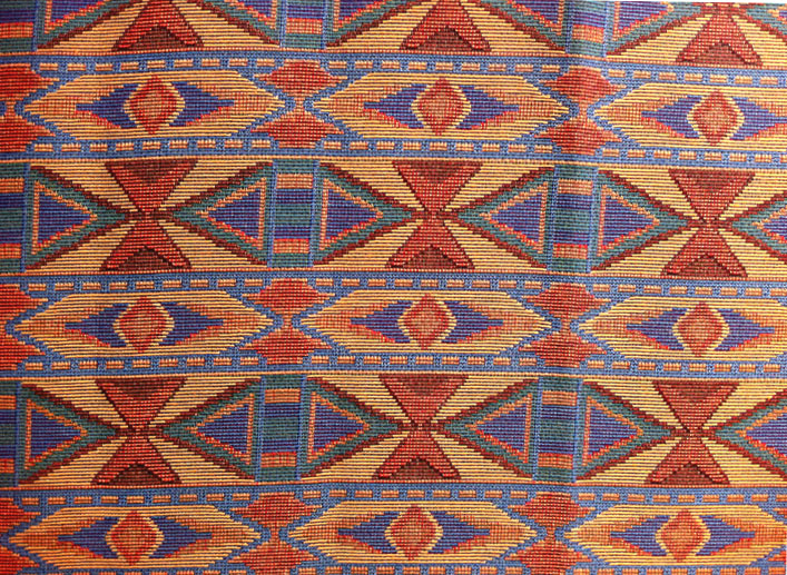 Carolina Flame Z 915, Southwest Upholstery Fabric