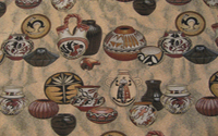 Southwest Pottery Sand, Southwest Upholstery Fabric