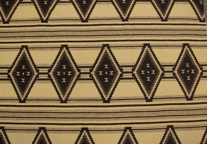 Medicine Hat Black Southwest Upholstery Fabric