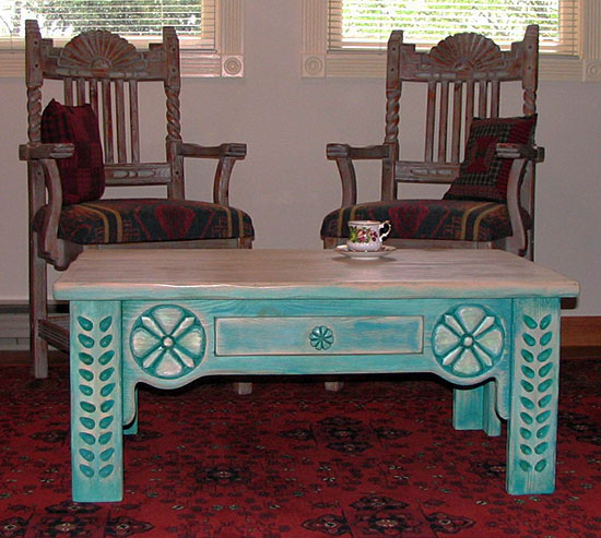 Great Southwest Coffee Table And Chairs