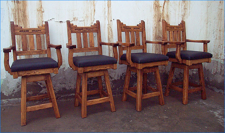 New Mexico Counter Stools Set Of 4 : wood bar stools with arms - islam-shia.org