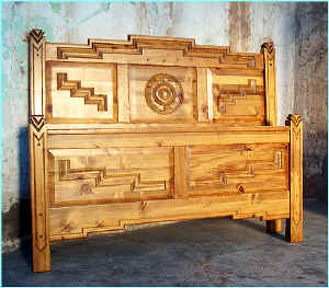Anasazi Bed in Golden Oak Stain