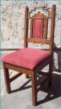 Anasazi  Dining Chair With Cushion In Back