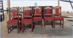 Eight Anasazi Dining Chairs With Cushion In Back
