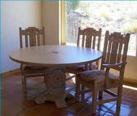 Anasazi Round Dining Set Featuring Arm Chairs