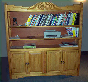 Aurora 72 X 72 Book Case, Honey Stain