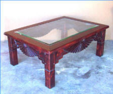 Aurora Coffee Table Frame, Red Mahogany Stain