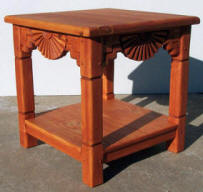 Aurora End Table Colonial Maple Stain