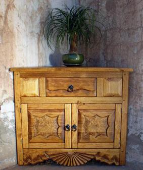 Southwest Cabinets Buffet Corner Jewelry Hutch Curio