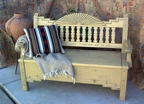 Southwest  Aurora Bench With Storage Compartment