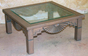 Aurora Coffee Table Frame, Old Wagon Gray