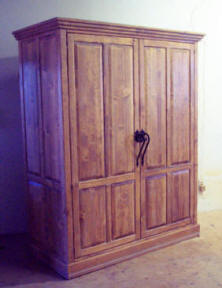 Large Custom Corrales Computer Armoire