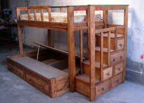 Custom Southwest Style Bunk Beds