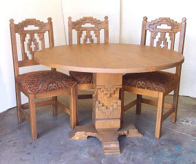 Cruz Round Dining Set, Earthy Tone Stain