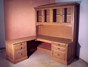 Mission Custom Computer Desk with Hutch
