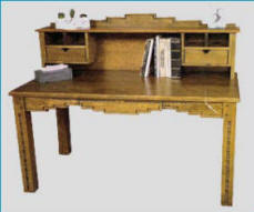 Pueblo Writing Desk with hutch