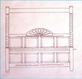 Canopy Bed Drawing