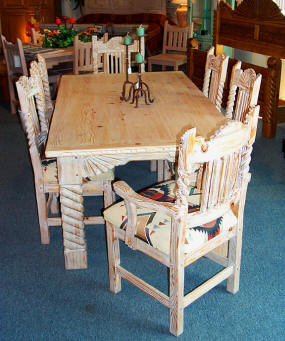 Great Southwest Dining Set, Sandblasted Finish