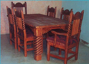 Great Southwest Dining Set, Golden Pecan Sandblasted